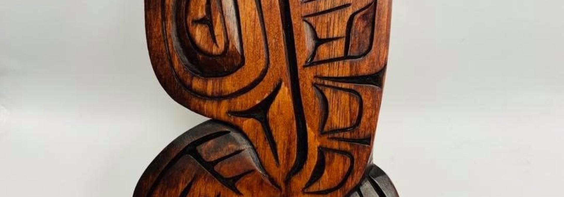 Hand Carved Eagle Flying Up - Large