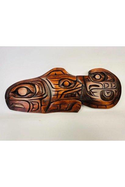 Hand Carved Air/Land/Water  -Large
