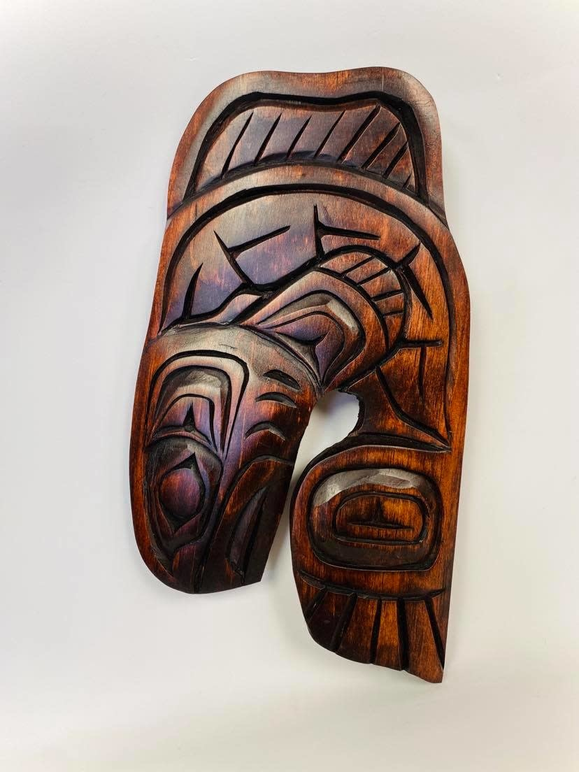 Hand Carved Salmon-Nelson McCarty-1