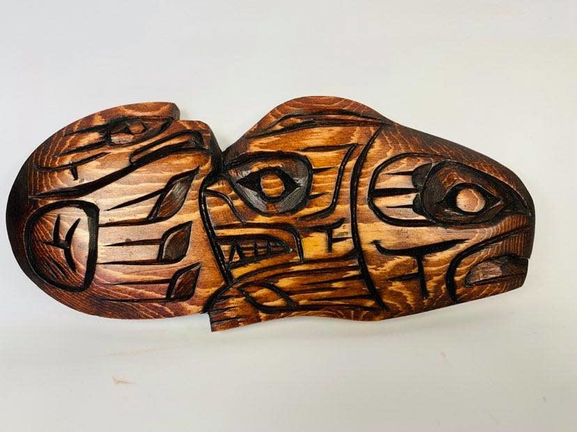 Hand Carved Air Land Water-Nelson McCarty-1