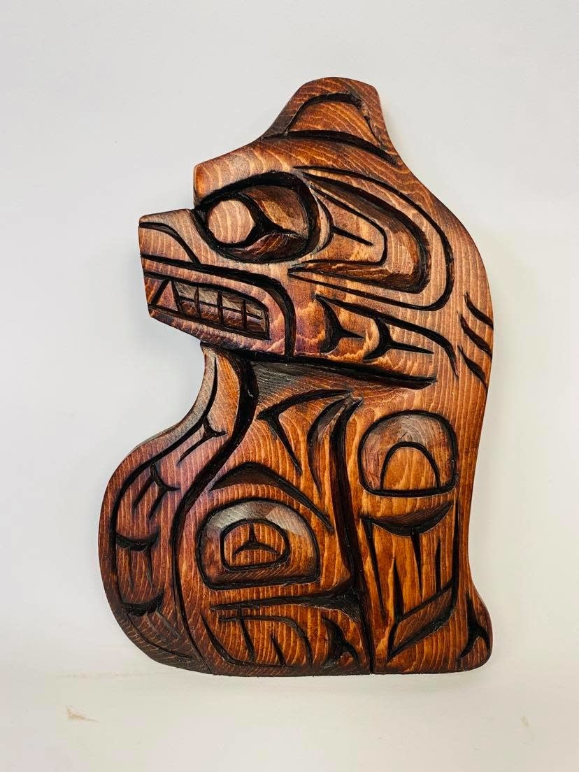 Hand Carved Wolf-Nelson McCarty-1