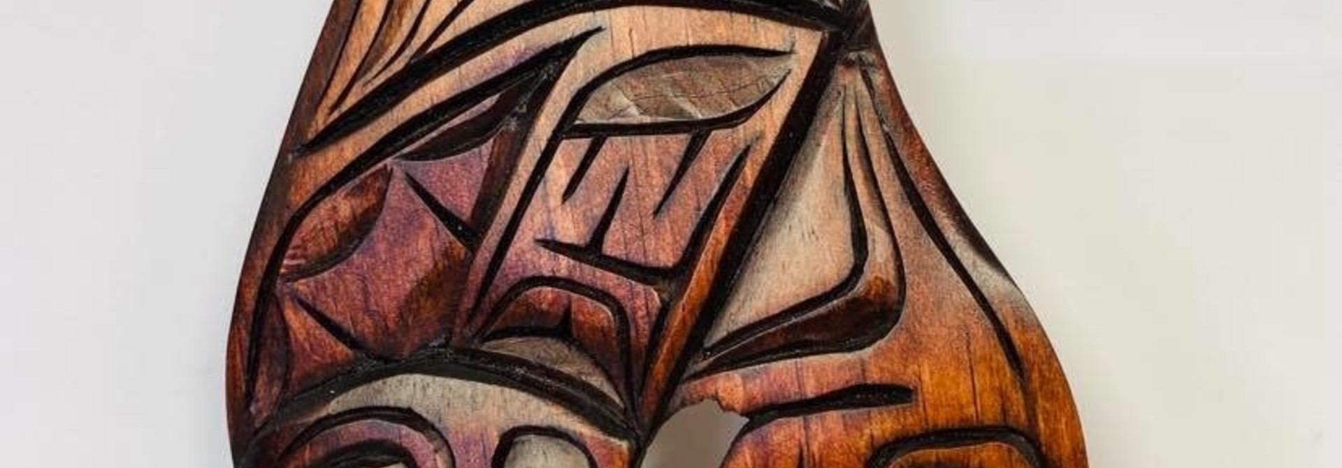Hand Carved Killer whale Eagle Tail- Nelson McCarty