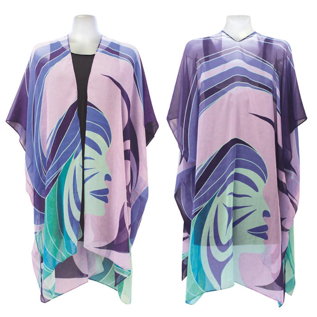 Sheer Fashion Wrap Matriarchal Power- Simone Diamond-1