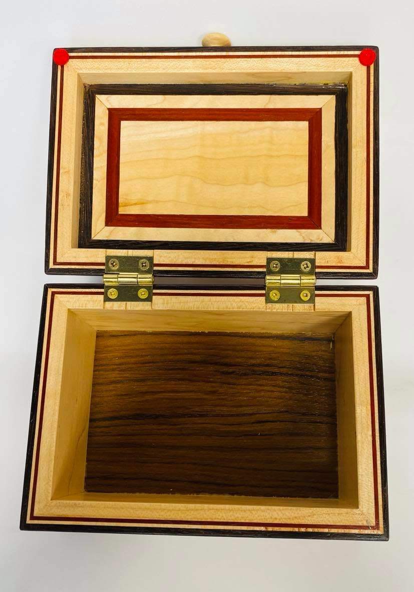 """Hand Crafted Jewelry box made of rare """"Wenge Marble """" Wood-2"""