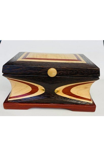 """Hand Crafted Jewelry box made of rare """"Wenge Marble """" Wood"""
