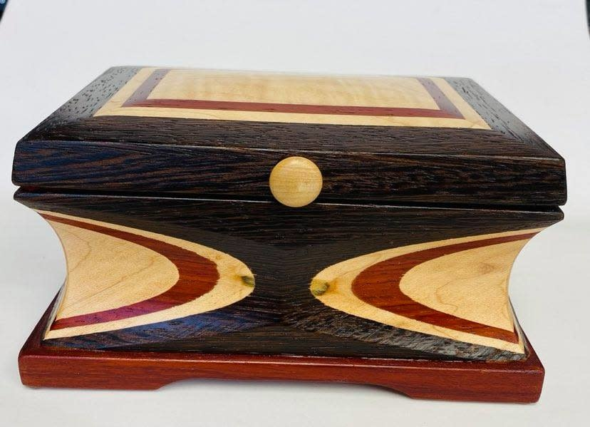 """Hand Crafted Jewelry box made of rare """"Wenge Marble """" Wood-1"""