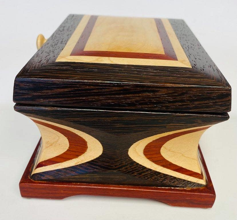 """Hand Crafted Jewelry box made of rare """"Wenge Marble """" Wood-4"""