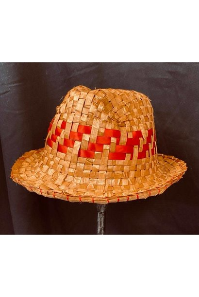 Cedar Fedora with red ribbon By Crystal Chapman