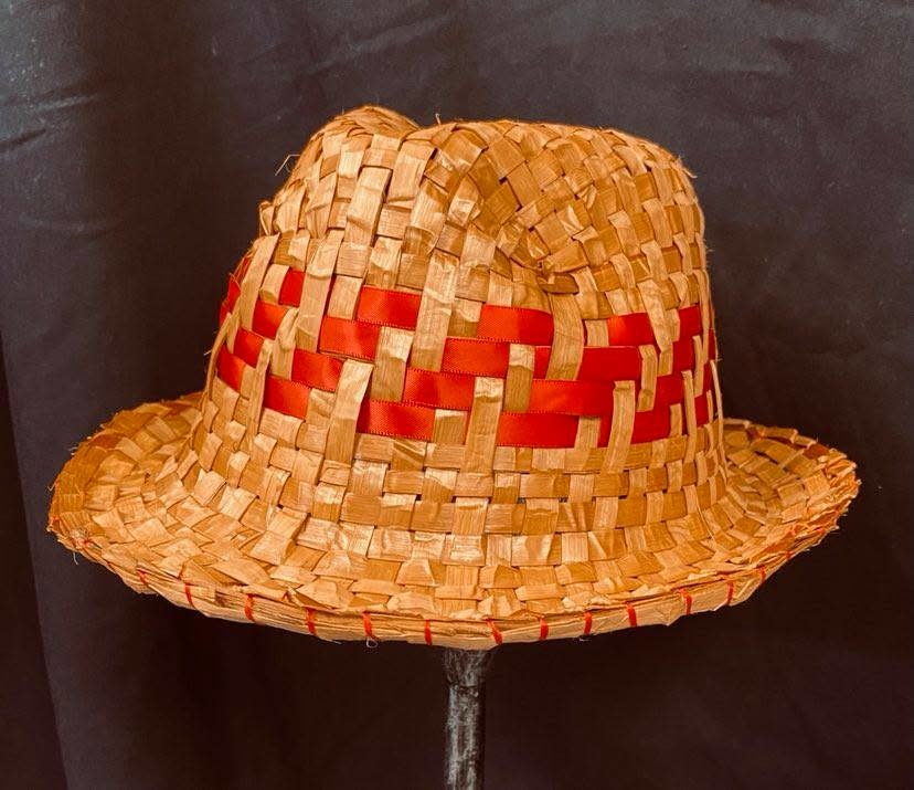 Cedar Fedora with red ribbon By Crystal Chapman-1