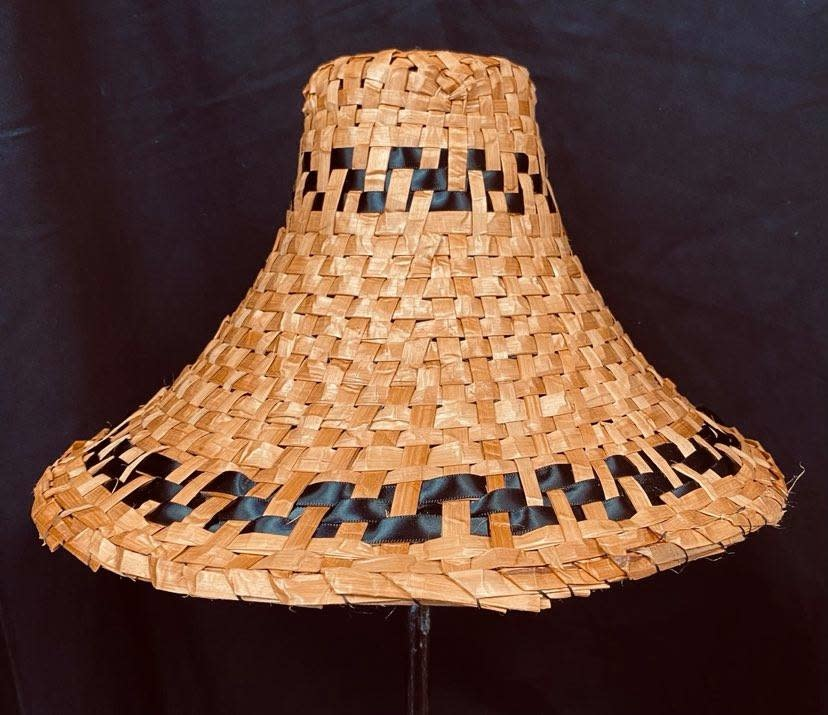 Traditional Cedar Hat with ribbon by Crystal Chapman-2