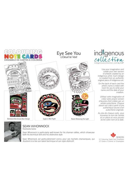Coloring Note Cards - Eye see you by Sean Whonnock
