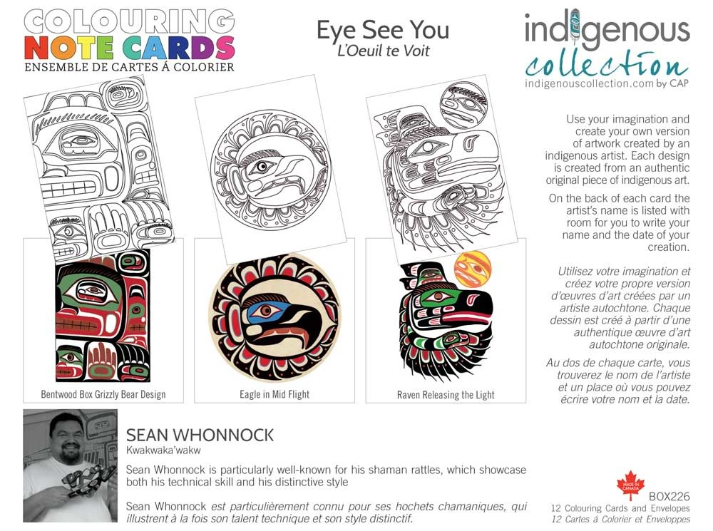 Coloring Note Cards - Eye see you by Sean Whonnock-2