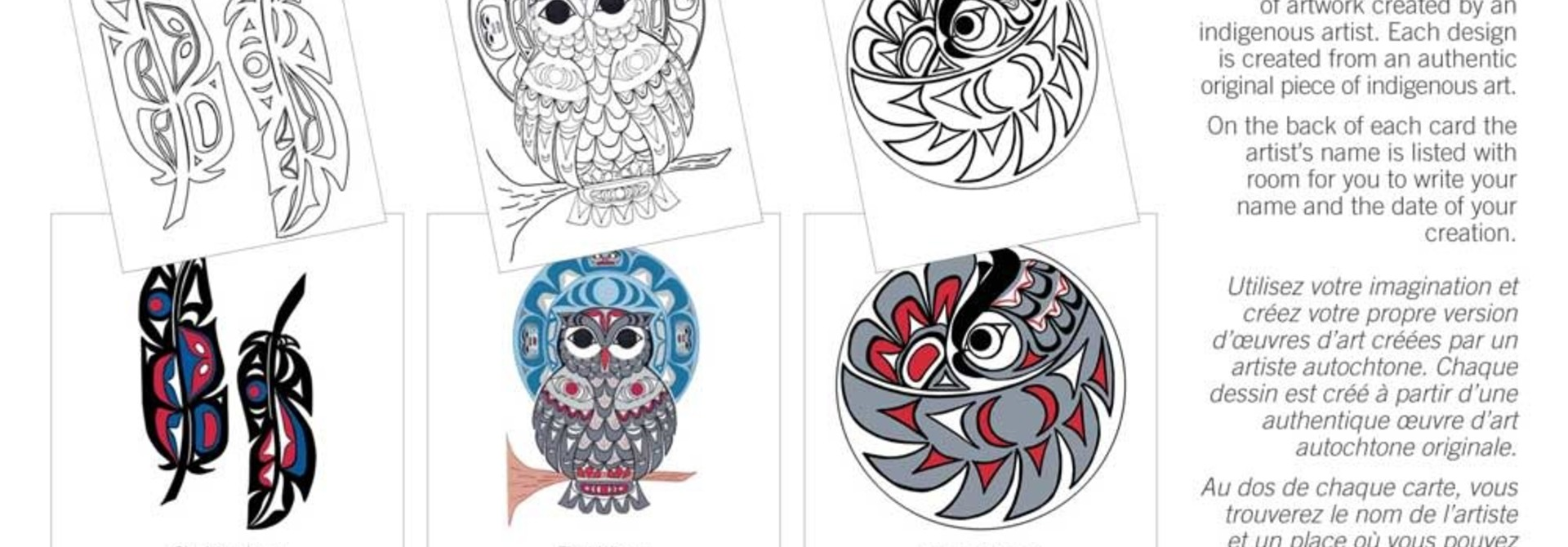 Colouring Note Cards - Feathers by Angela Kimble