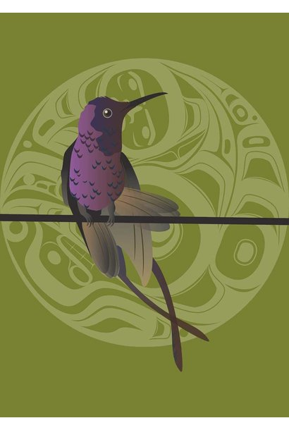 """9x6 Art Cards """"Hummer Butterfly"""" by Mark Preston"""