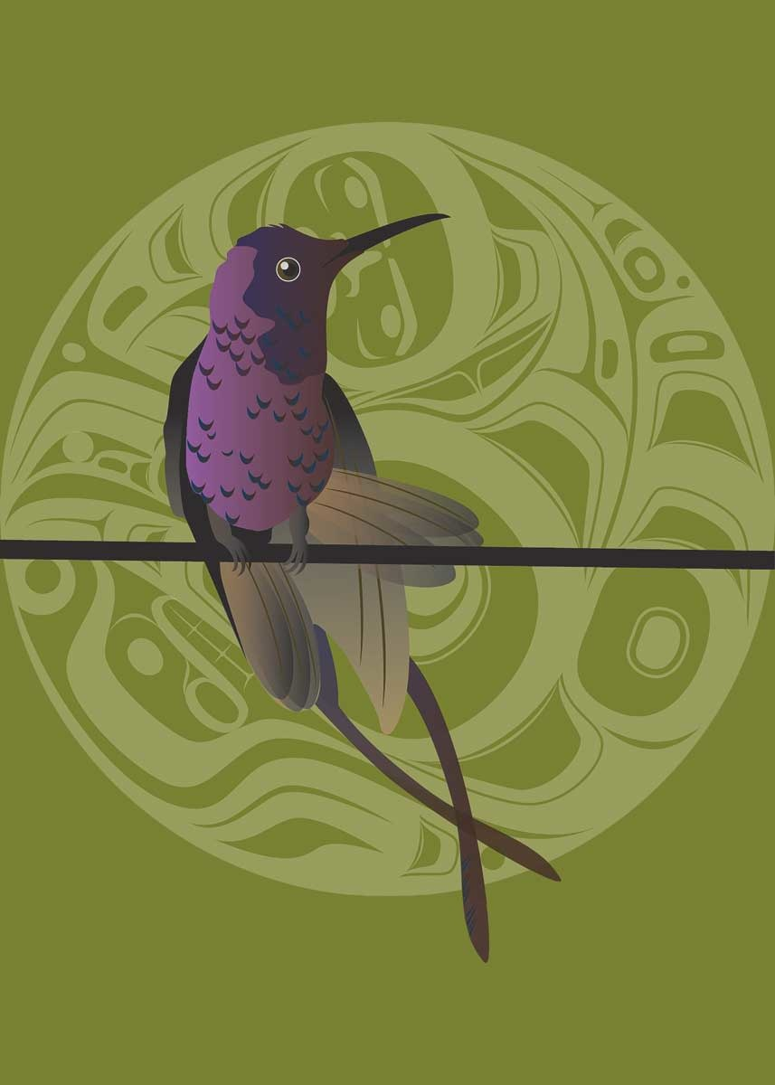 """9x6 Art Cards """"Hummer Butterfly"""" by Mark Preston-1"""