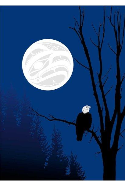 "9x6 Art Card ""Eagle Silhouettes"" by Mark Preston"