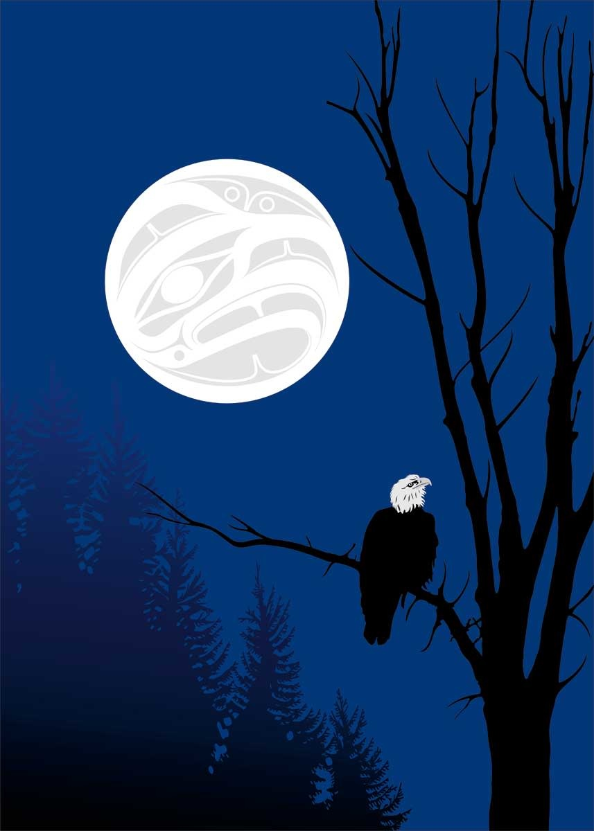 "9x6 Art Card ""Eagle Silhouettes"" by Mark Preston-1"
