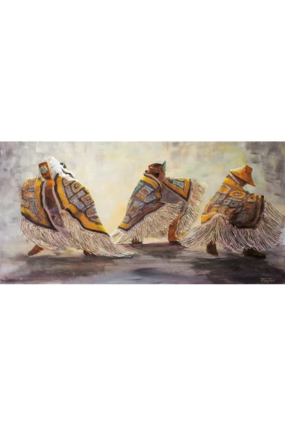 "9x6 Art Card ""Dance Blankets"" by Jean Taylor"