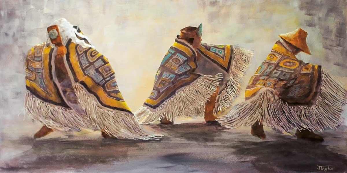 "9x6 Art Card ""Dance Blankets"" by Jean Taylor-1"