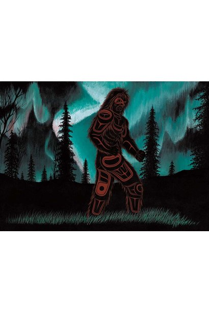 6x9 Art Card  Northern Lights Dancer- Richard Shorty