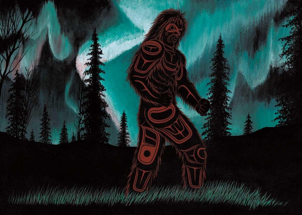 6x9 Art Card  Northern Lights Dancer- Richard Shorty-1