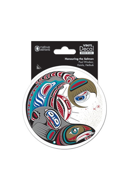 Premium Decal-Honouring the Salmon by Paul Windsor