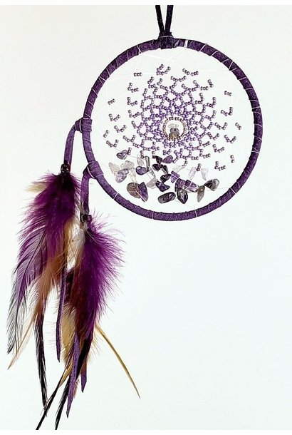 """4"""" Energy Flow Dream Catcher with Amethyst"""
