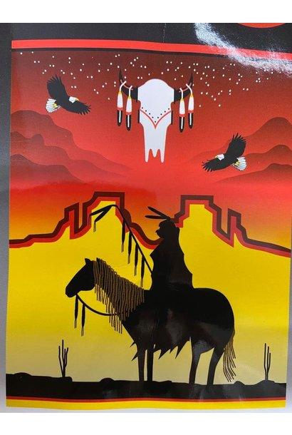 Fleece Blanket - Sunset Warrior