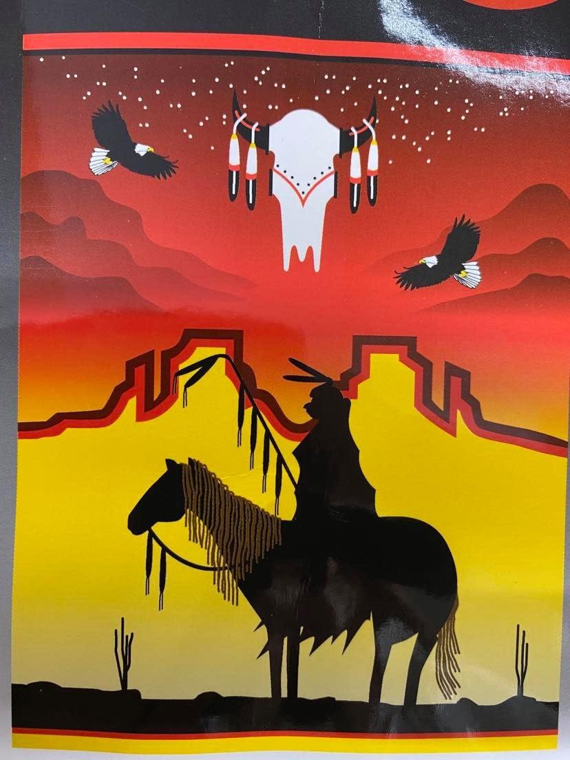 Fleece Blanket - Sunset Warrior-1
