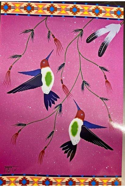 Fleece Blanket -Hummingbird