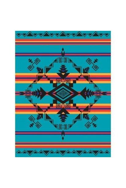 Fleece Blanket -God's Eye Turquoise