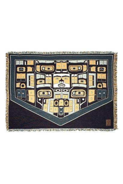 Cotton Tapestry Blanket- Chilkat design