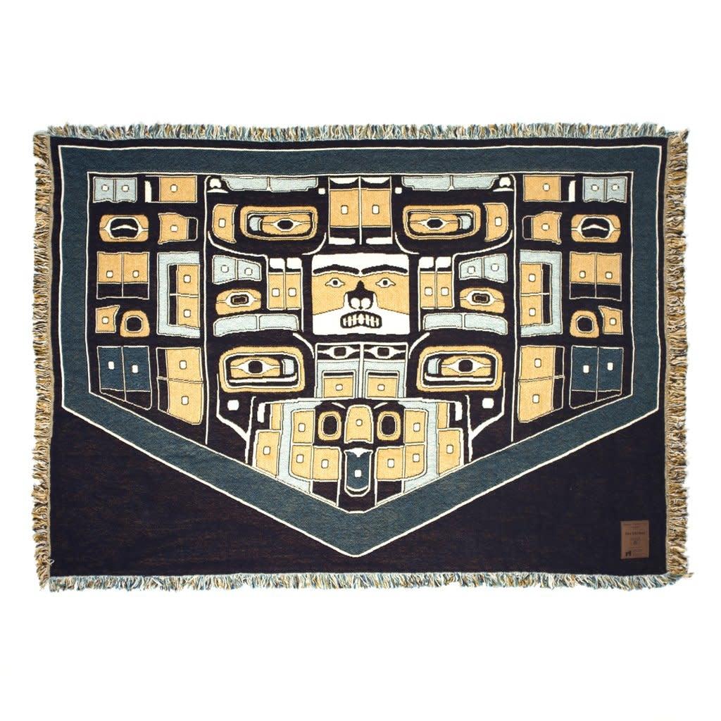 Cotton Tapestry Blanket- Chilkat design-1