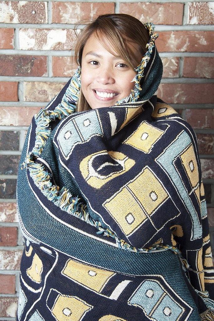 Cotton Tapestry Blanket- Chilkat design-2