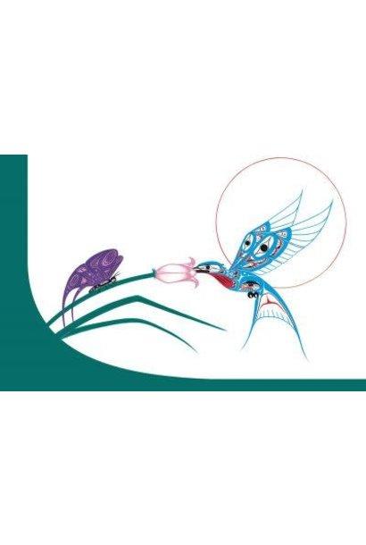 Notebook Hummingbird & Butterfly- Richard Shorty