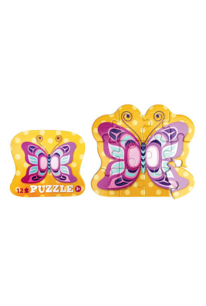 12 Piece Puzzle - Butterfly-Eugene Isaac