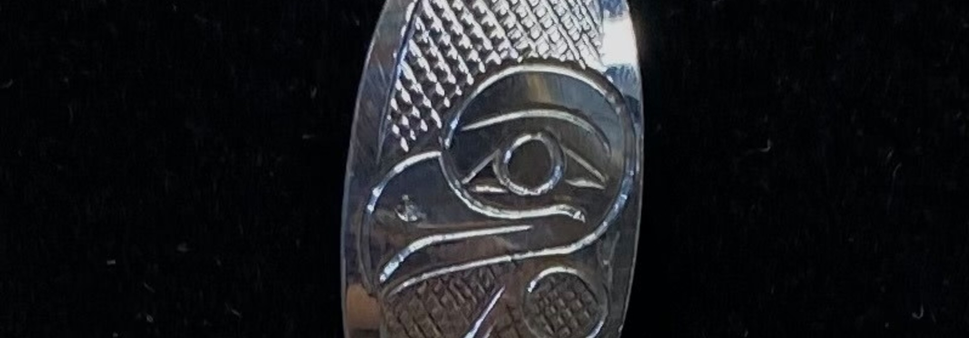 Hand Carved Silver Pendant-Eagle by Travis Henry