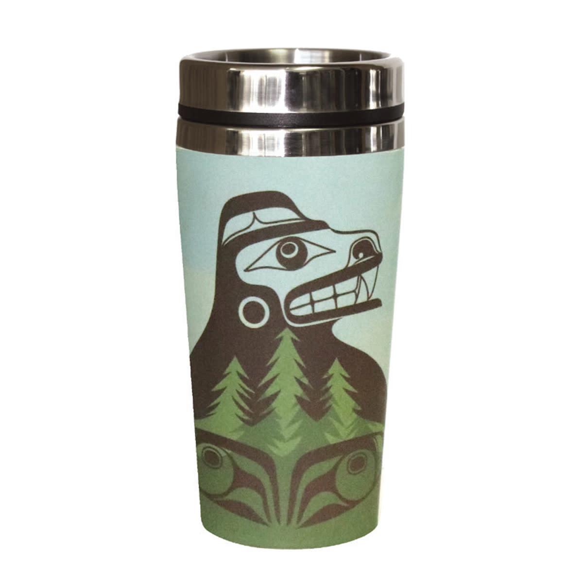 Bamboo Travel Mug- Bear the Tree Hugger-1