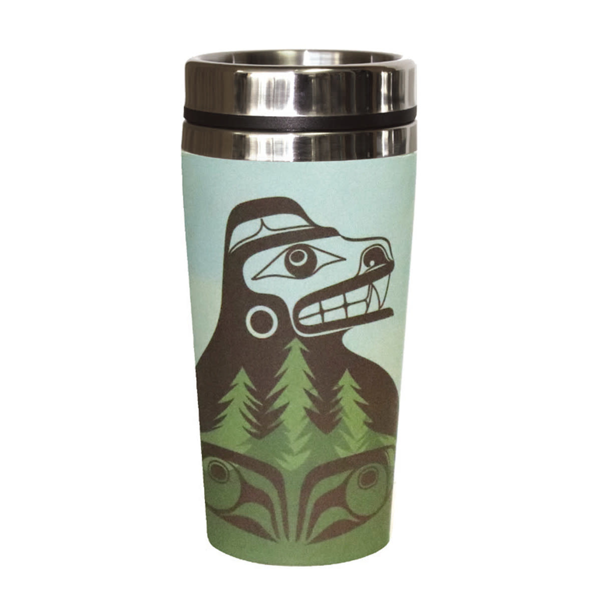 Bamboo Travel Mug- Bear the Tree Hugger-2