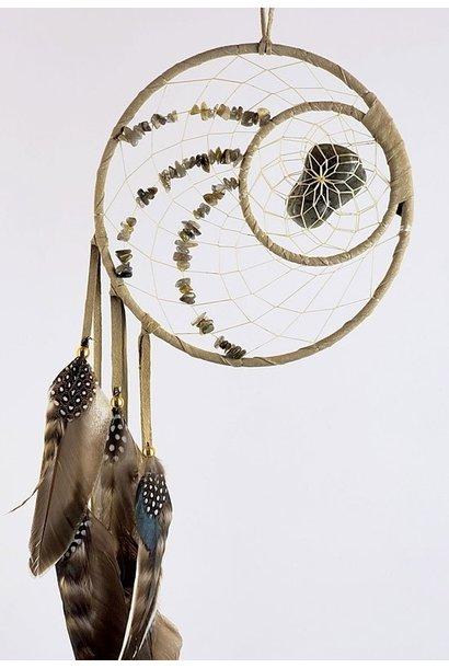 "6"" Energy Flow Dream Catcher w Labradorite stones"
