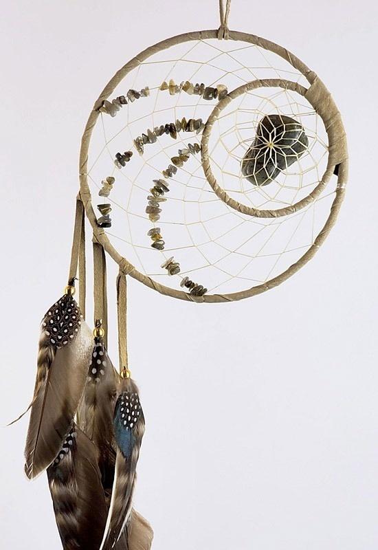 "6"" Energy Flow Dream Catcher w Labradorite stones-1"