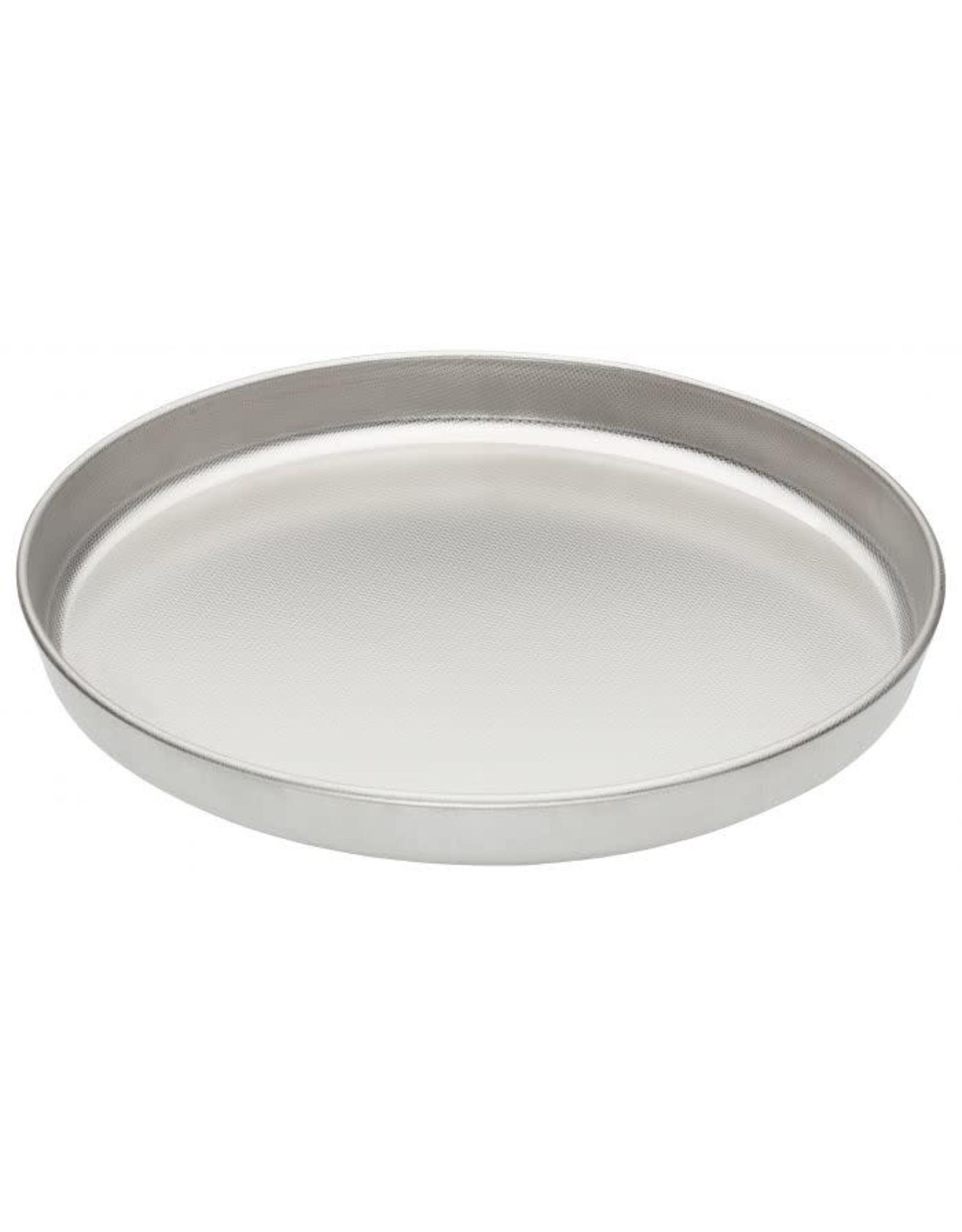 "Cousin Serafin's Micro Textured Pizza Pan, 13"" Stainless Steel"
