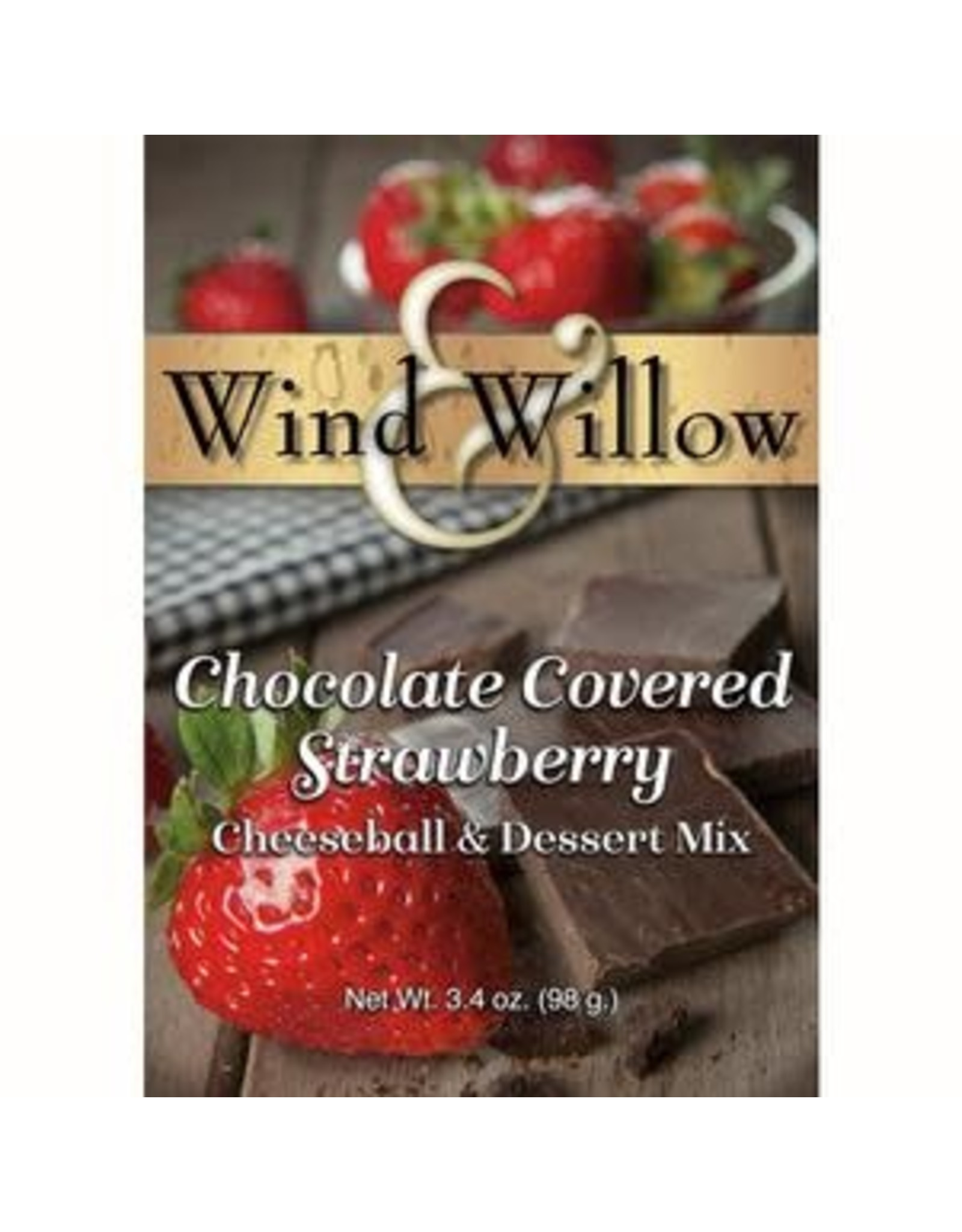 Wind & Willow Chocolate Covered Strawberry Cheeseball Mix, 3.4oz