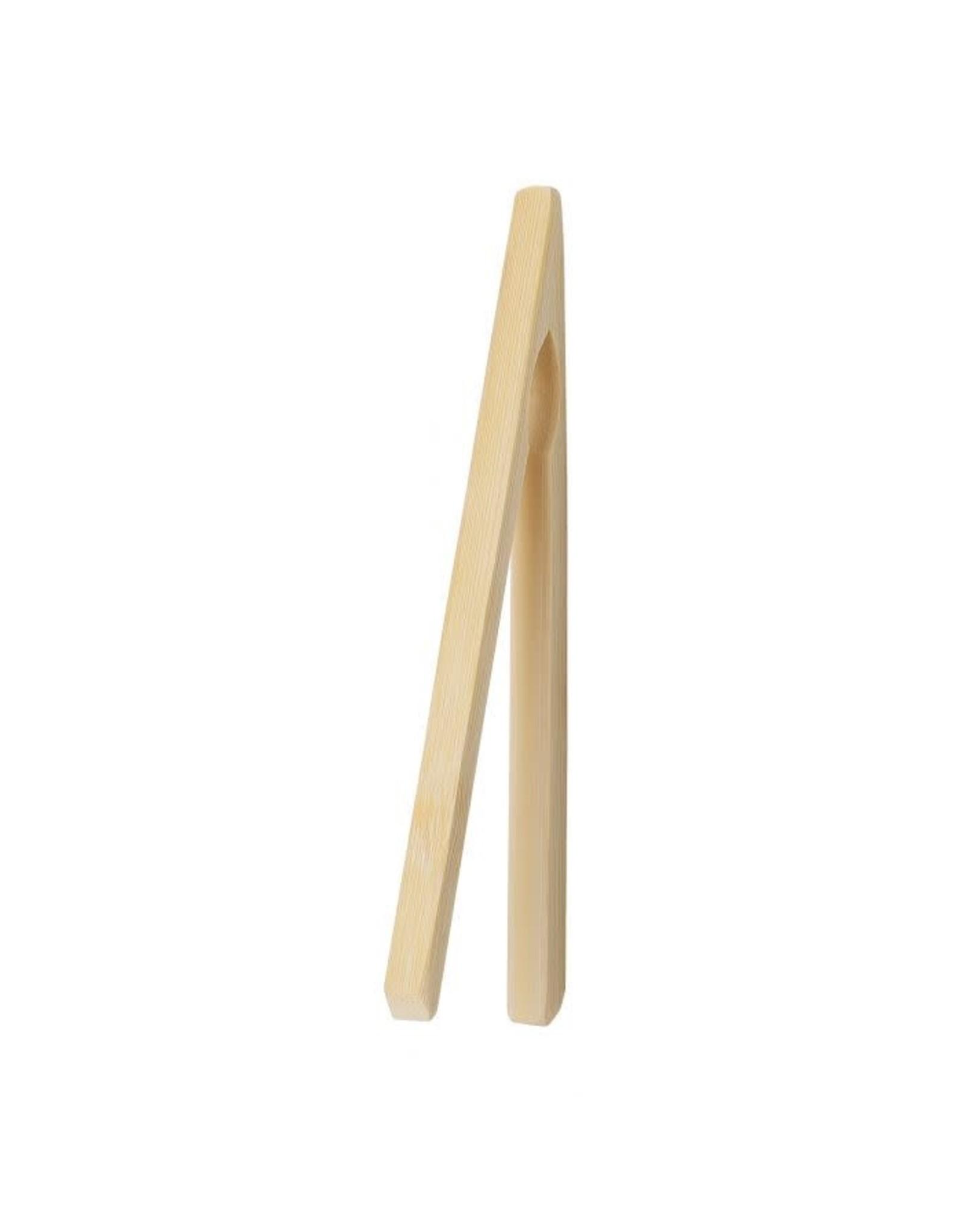 "Bamboo Toast Tongs, 6.5"""