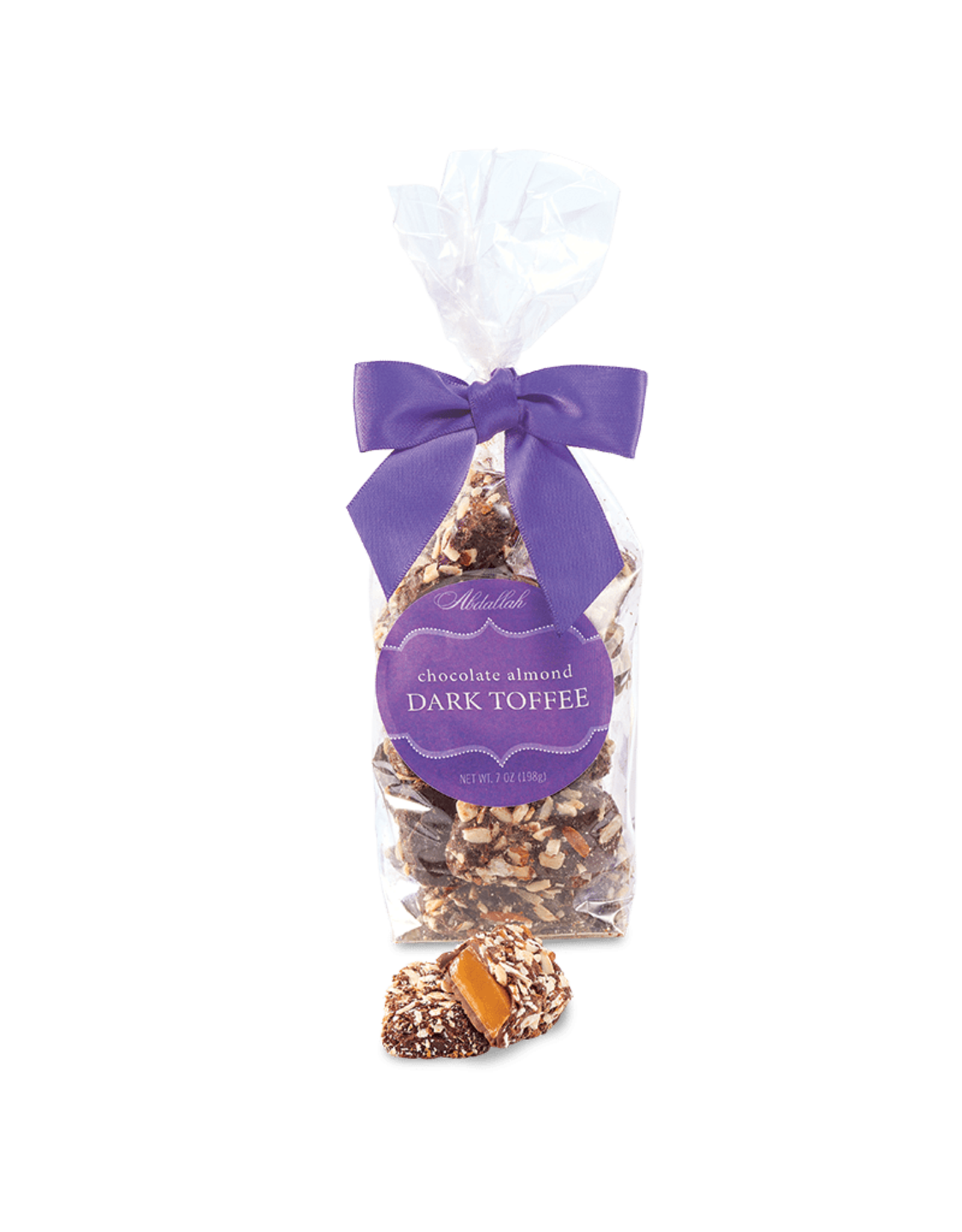 Abdallah Candy, Dark Chocolate Butter Almond Toffee, 7oz