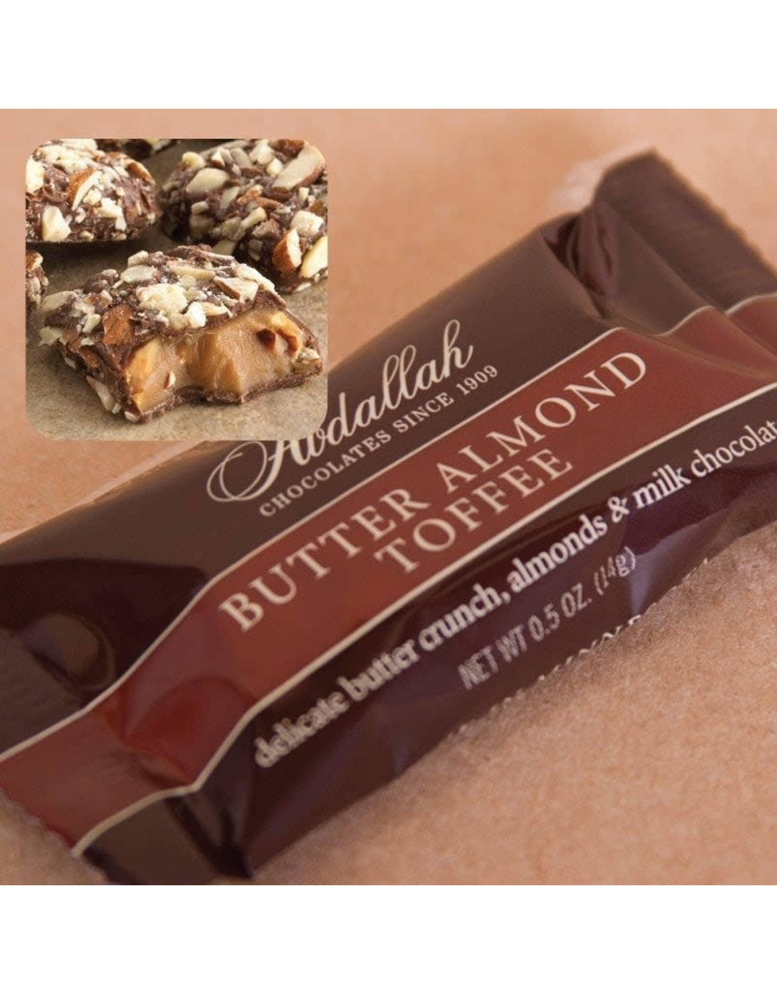 Abdallah Candy, Butter Almond Toffee,  .5oz