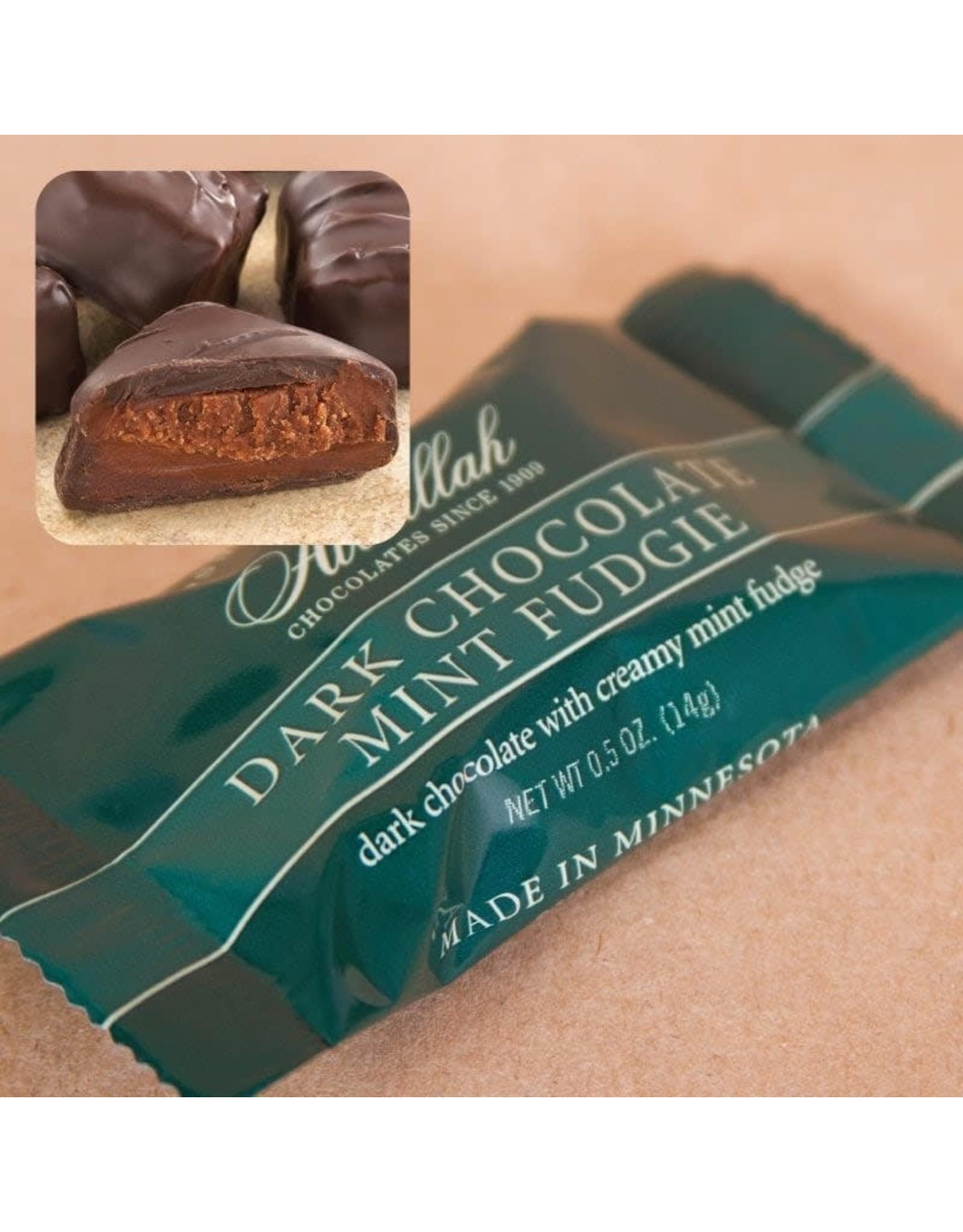 Abdallah Candy, Dark Chocolate Mint Fudgie, .5oz