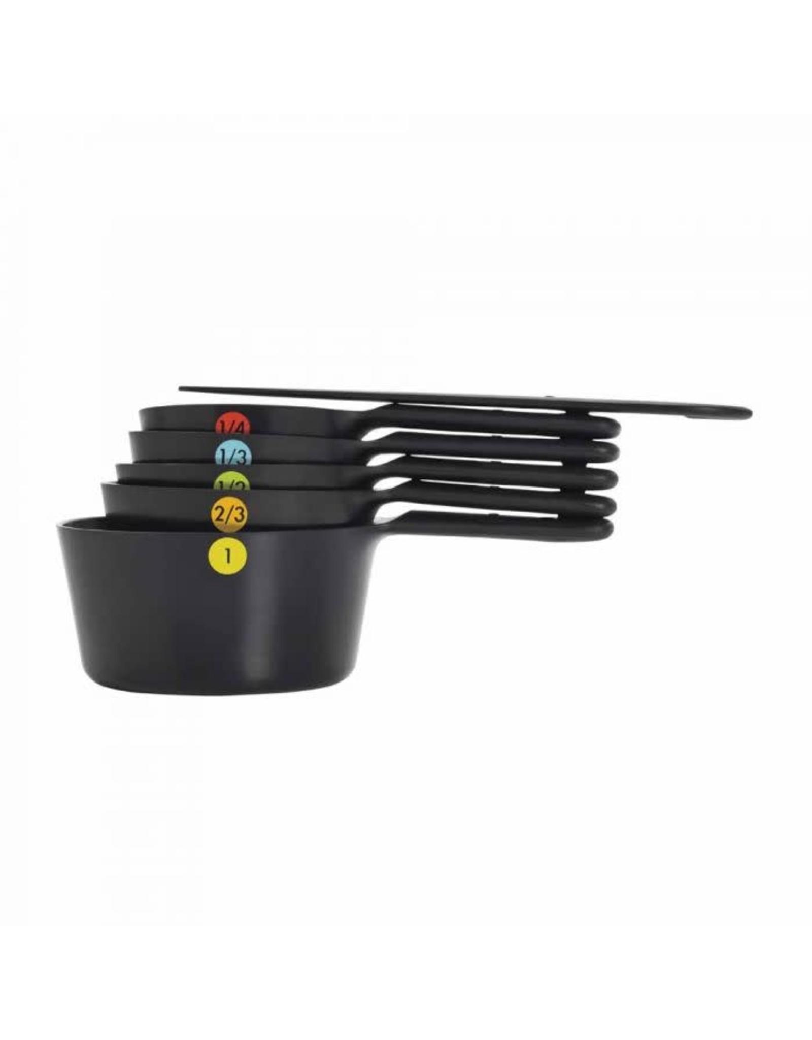 Oxo Snap Measuring Cup Set, Black, 6 Pc.