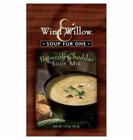 Wind & Willow Broccoli Cheddar Soup Mix, Individual, 1.5 oz