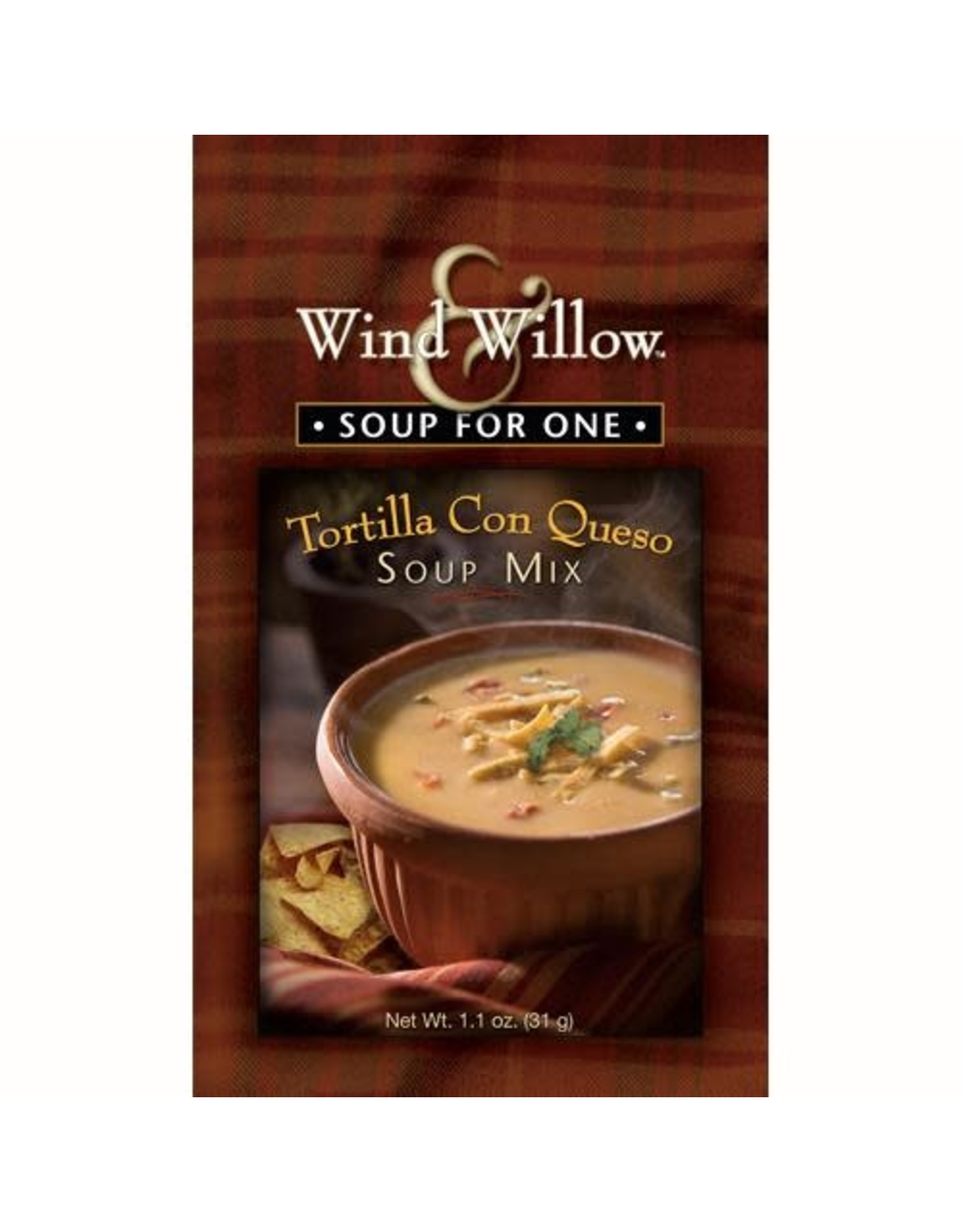 Wind & Willow Tortilla Con Queso Soup Mix, Individual, 1.1 oz